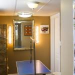 Table hydraulique avec fond de pièce et accessoires