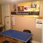 Table hydraulique et notre bannière.